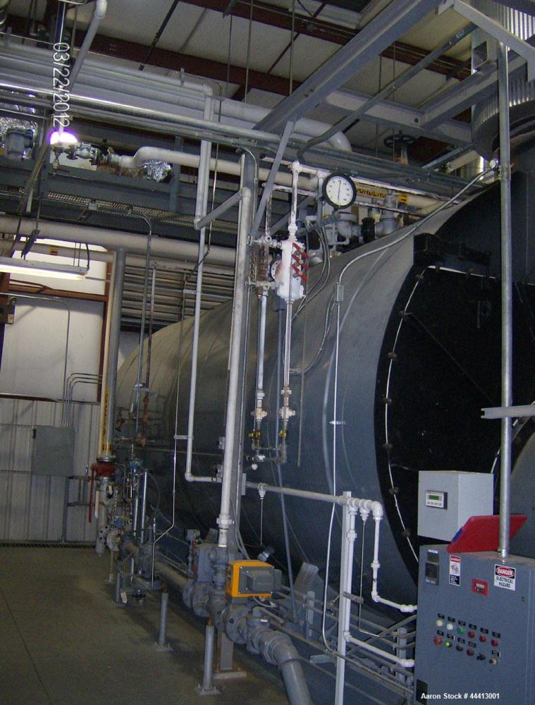 Used-Johnston Steam Boiler, Model PFXA1600-2G250S, 1600 hp, 55,200lb/hr max capacity, 6,496 square feet heating surface, (2)...