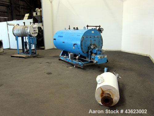 Used- Kewanee Packaged Classic III Steam Boiler, Model H3S-50-G. 50 hp, mbh output 1674, 250 Square feet heating surface, 15...