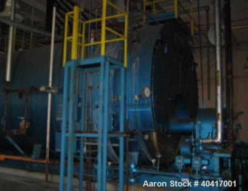 Used-Superior steam boiler, 1500 hp, 150 psig, Powerflame burner, 3 pass-wet-back, natural gas and #2 oil, 51,749 lb/hr stea...