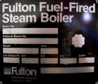 Used- Fulton Fuel Fired Steam Boiler, Model FB-080-A