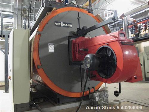 Unused- Viessman Gas Heated Hot Water Boiler, Model Turbomat 18032-16.  Capacity output 6000 kW, Weishaupt single burner typ...