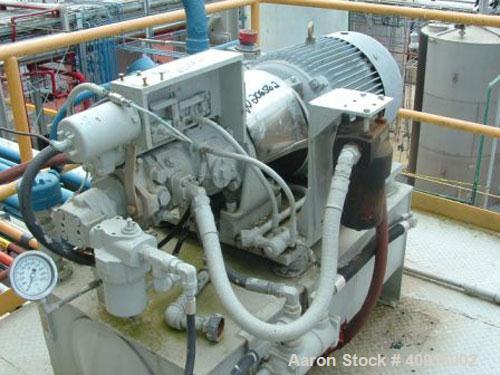 "Used-Ametek 60"" x 30"" Mark III Perforated Basket Centrifuge. Hastelloy C276 internals, Hastelloy lined centrifuge, top load,..."