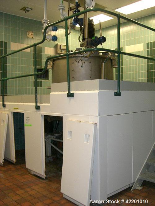 Used- Broadbent 48 x 30 Basket Centrifuge, Type Series E, Hastelloy C276. Unit rated 1.2 kg/dm3 and 1050 rpm maximum speed. ...