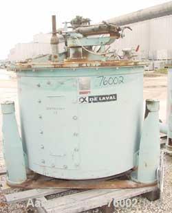 USED: Stainless Steel Delaval/ATM Solid Basket Centrifuge
