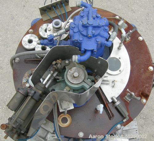 """Used- Delaval/ATM 24"""" x 14"""" perforated basket centrifuge, Hastelloy C-276 construction (product contact areas). Max bowl spe..."""