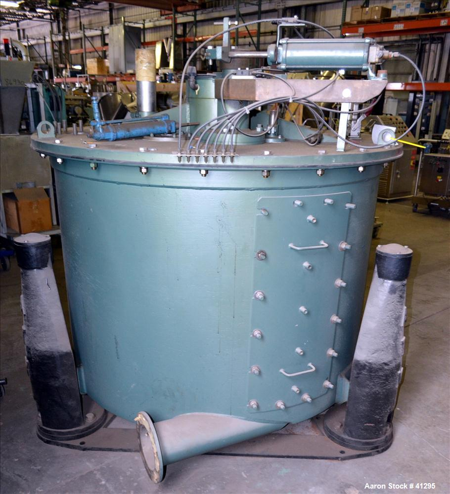 """Used- Reconditioned Delaval/ATM Mark III 48"""" x 30"""" Perforated Basket Centrifuge, 304 Stainless Steel. Top feed, bottom dump,..."""