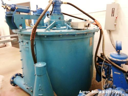 Used- Stainless Steel Delaval/ATM Perforated Basket Centrifuge