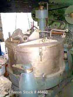 Used- Stainless Steel Escher Wyss Basket Centrifuge, Type V-130