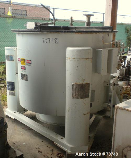 Used- Ketema/Tolhurst Rubber Lined Perforated Basket Centrifuge