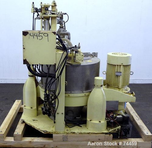 Used- Stainless Steel Kokusan Solid Bowl Basket Centrifuge, Type H-13111TH