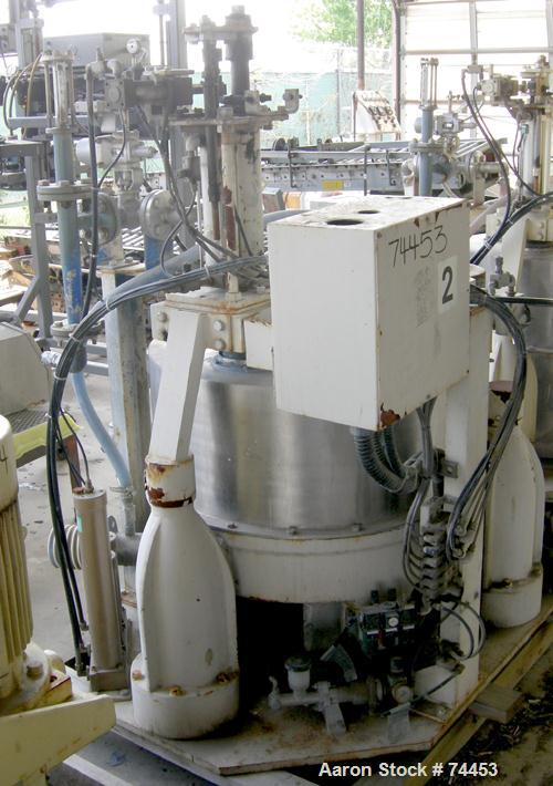 Used- Stainless Steel Kokusan Solid Bowl Basket Centrifuge