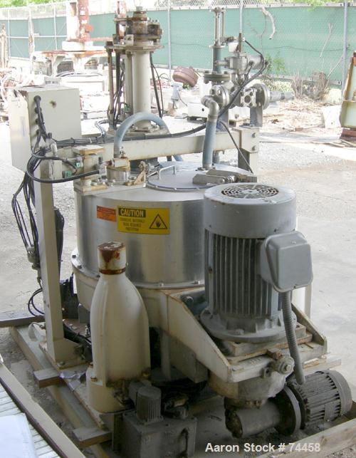 Used- Stainless Steel Kokusan Solid Bowl Basket Centrifuge