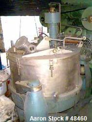 Used- Stainless Steel Escher Wyss Basket Centrifuge, Type V-130