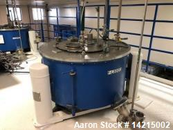 "Used- Tolhurst Center Slung Top Unload Basket Centrifuge. 48"" diameter x 22"" high. Stainless steel. Previously used on Marig..."