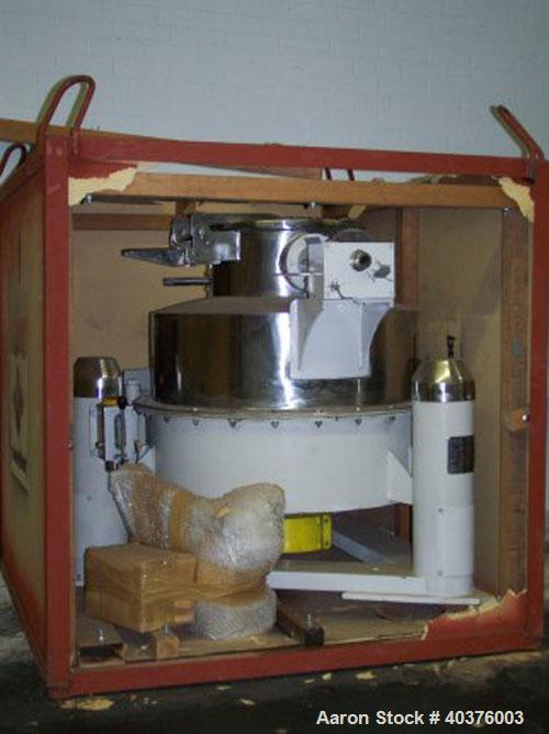 Used-Mineralmag Solid Wall Basket Centrifuge. Stainless steel construction (product contact areas), tri-pod suspension syste...