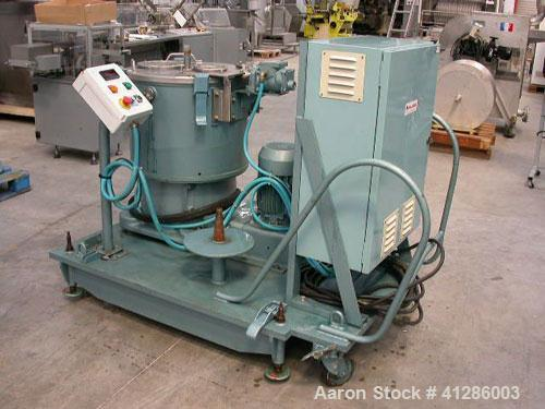 """Used-Rousselet Basket Centrifuge, Type RC 50VXR, stainless steel. For semi-liquid or liquid product. 16"""" diameter x 12"""" stra..."""