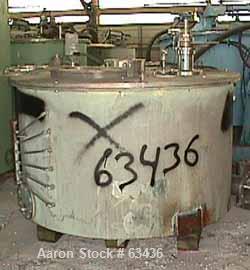 Used- Stainless Steel Sanborn Pressuretite Perforated Basket Centrifuge