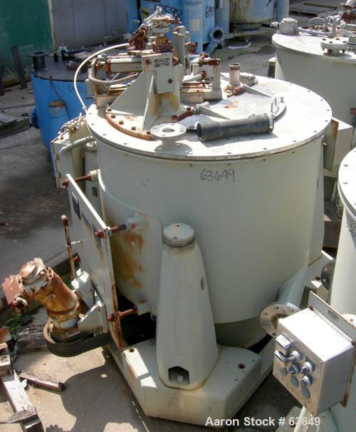 Used- Stainless Steel Sharples Solid Bowl Basket Centrifuge