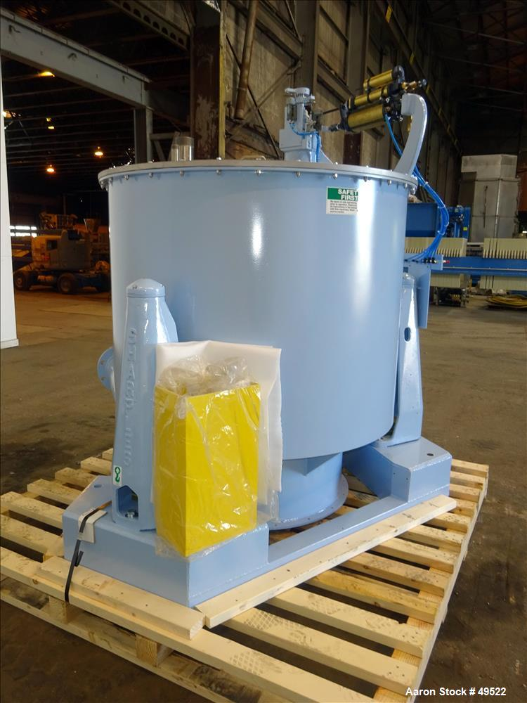 "Reconditioned- Sharples SST-1600 (48"" x 30"") Perforated Basket Centrifuge,"