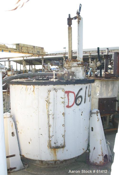 USED: Sharples T-1600 perforated basket centrifuge. 316 stainless steel, tri-pod suspension system, (no base), curb housing,...