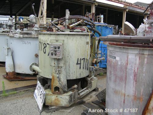 "USED: Sharples Sludge-Pak, SP-5500. 48"" x 24"" Solid bowl centrifuge in 316SS including the bowl, frame & cover, knife discha..."