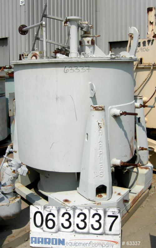 Used- Stainless Steel Sharples Perforated Basket Centrifuge