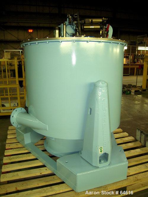 "Reconditioned Sharples 48"" x 30"" Perforated Basket centrifuge, stainless steel construction on product contact areas. top lo..."