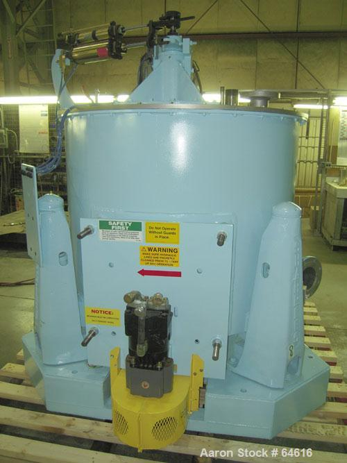 """Reconditioned Sharples 48"""" x 30"""" Perforated Basket centrifuge, stainless steel construction on product contact areas. top lo..."""