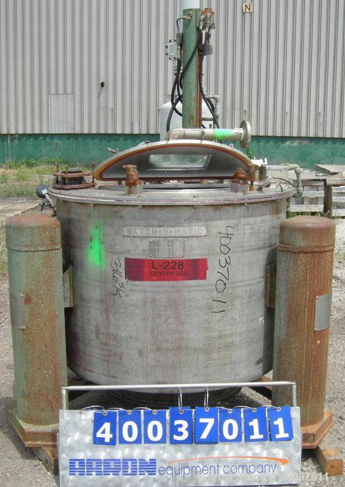 Used- Stainless Steel Tolhurst Bottom Discharge Centrifuge