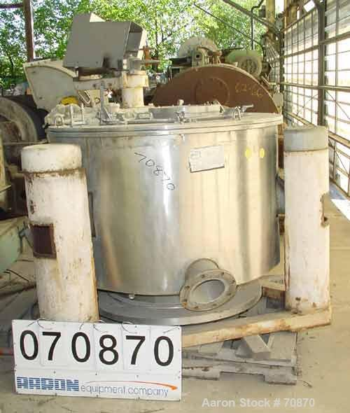 USED- Tolhurst Stainless Steel Perforated Basket Centrifuge