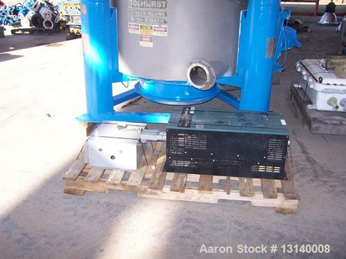 """Used-Tolhurst Batch-O-Matic Mark III 48"""" x 24"""" Perforated Basket Centrifuge.  Flip top design.  Constructed of Hastelloy C-2..."""