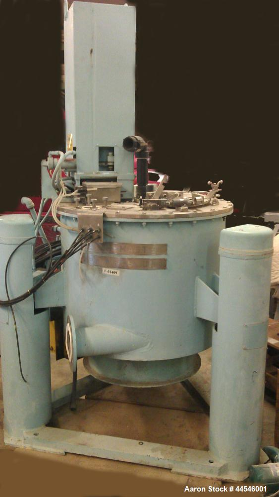 """Used-Tolhurst 26"""" x 12"""" Perforated Basket Centrifuge.  Stainless steel construction (product contact areas), top load, botto..."""