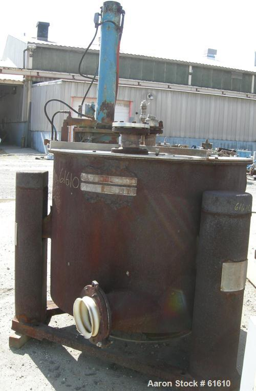 "USED: Tolhurst 48"" x 30"" perforated basket centrifuge. Carbon steel curb housing with stainless steel cladding (rough condit..."