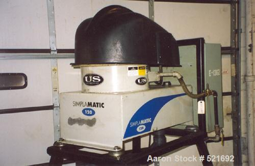 "USED: U S Centrifuge, model Simplamatic A120. Maximum flow rate is 15 gpm. The bowl is 12"" diameter. Maximum rpm is 2,500. T..."