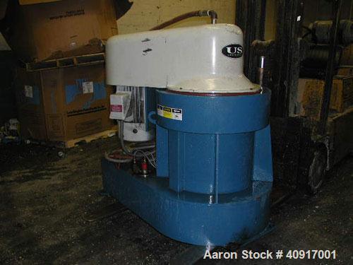 Used-US Centrifuge A172 Solid Bowl Basket Centrifuge. Top load, bottom unload, max bowl speed 2500 rpm, basket solids holdin...