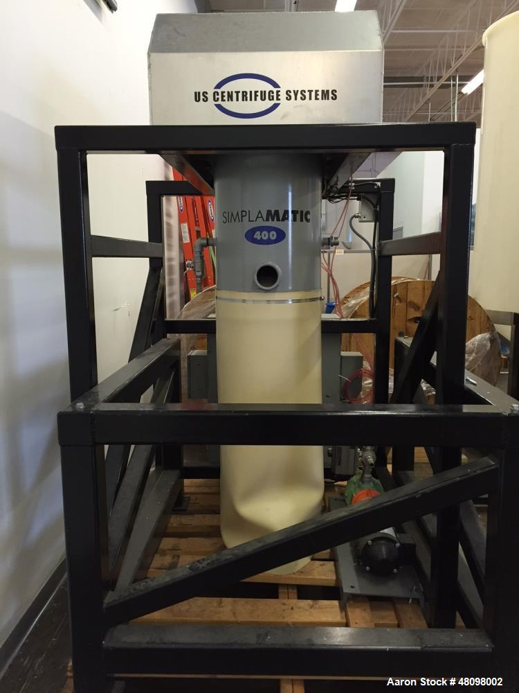 Used- US Centrifuge, Model A400. Fully automatic, self-cleaning, used for liquid/solid separation. Can process from 5 up to ...