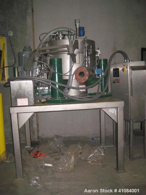 Used-Western States EZ-078 Perforated Basket Centrifuge. Stainless steel construction on product contact areas, max bowl spe...