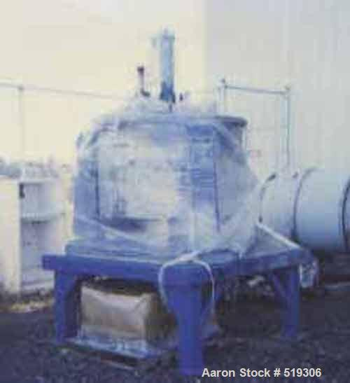 USED: Western States 48 x 24 Hastelloy Centrifuge, perforated basket, bottom discharge, 40 hp hydraulic drive, complete with...