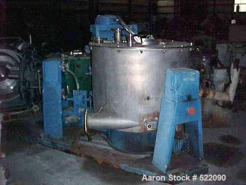 "USED: Western States perforated basket centrifuge, Hastelloy C276,40"" diameter x 24"" deep. Hastelloy basket and solid hastel..."