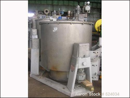 USED: 48 x 30 Western States basket centrifuge. All stainless steel, perforated basket, top load, bottom unload. 3 point lin...