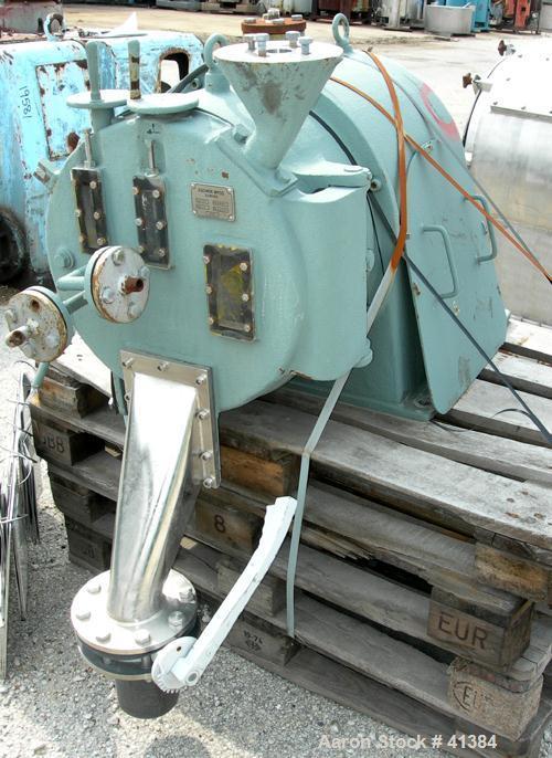 Used- Stainless Steel Escher Wyss Peeler Centrifuge, Model H-400