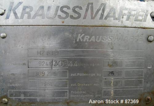 Used- Krauss Maffei Peeler Centrifuge
