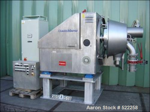 USED: Krauss Maffei peeler centrifuge, type HZ630PH. Material of construction is Hastelloy C-22 (2.4602) on product contact ...