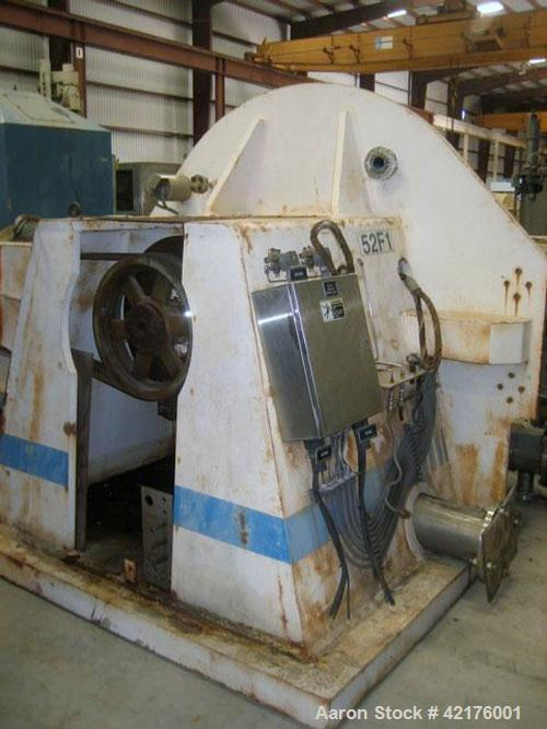 Used- Robatel EHBL1323DRG Peeler Centrifuge, 316 stainless steel construction (product contact areas). Max bowl speed 1190 r...