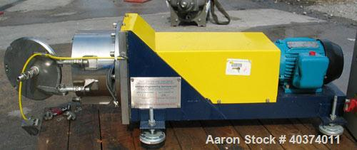 Used- Stainless Steel Unused-Alchem Engineering Limited Scale Horizontal Bowl Sedimentation Centrifuge