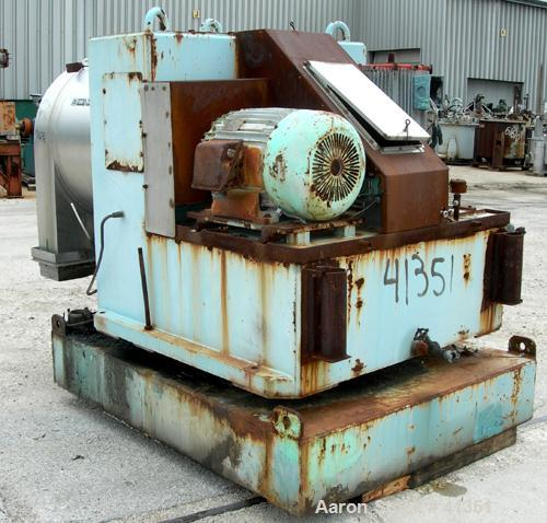 USED: Alfa Laval SB630/2 pusher centrifuge, 316 stainless steel product contact areas, 1800 rpm, two stage. 550/630 mm bowl ...
