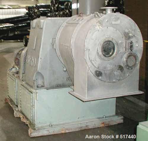 Used- Stainless Steel Bird Pusher Centrifuge