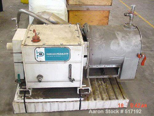 Used- Stainless Steel Baker Perkins Pusher Centrifuge