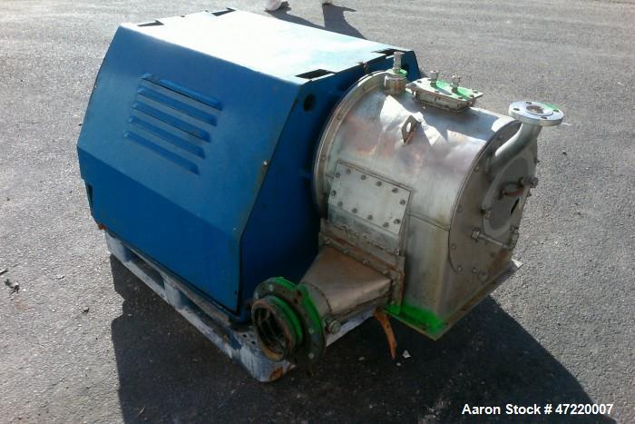 Used- Krauss Maffei SZ-21 Pusher Centrifuge, 316 Stainless Steel.