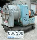 USED: Krupp-Dolberb SB-600 pusher centrifuge, 316 stainless steel product contact areas. 1250 rpm, single stage. 30 hp, 3/60...